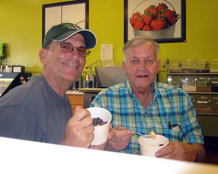 Dad and I visit a yogurt shop
