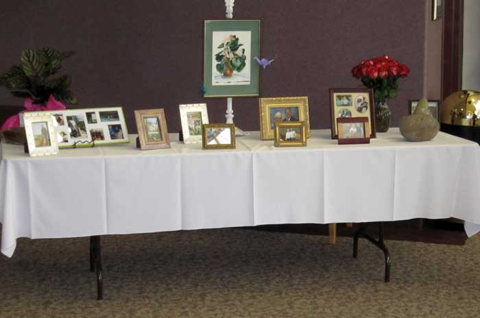 Table of photos