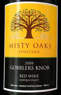 Misty Oaks Vineyard is only a few miles from us.