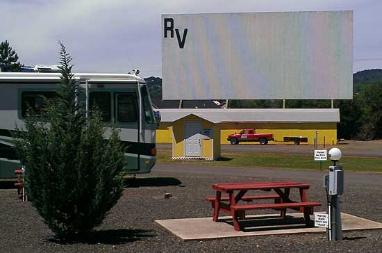 Drive-in theater and an RV park at the same time