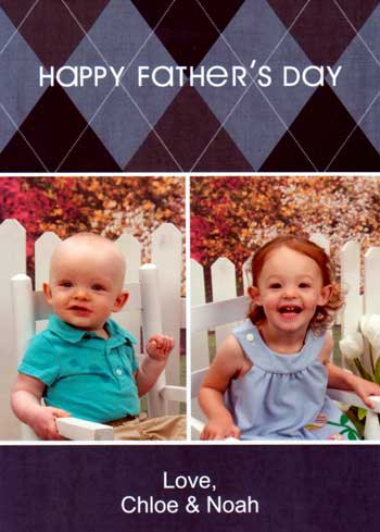 Father's Day card from Chloe and Noah