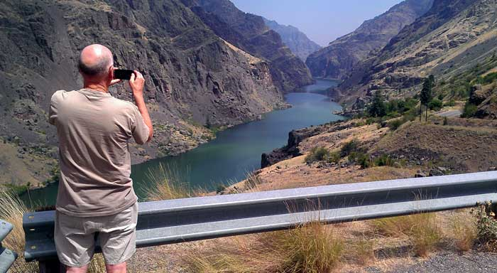 Ralph taking a Hells Canyon photo