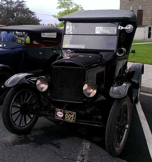 1923 Model T on exhibit in Enterprise
