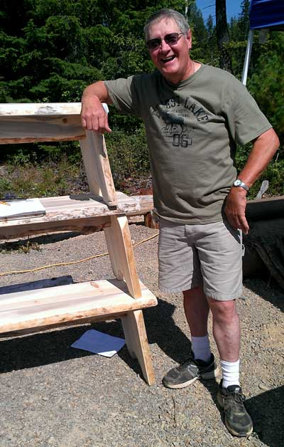 Ranny, a rustic furniture artist