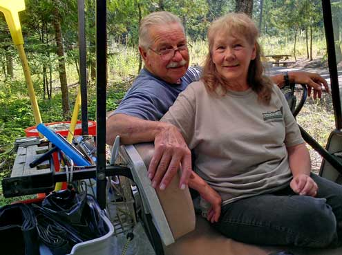 Our hosts at Outlet Bay Campground, Charlie and Doris
