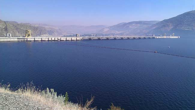 Columbia River behind the Grand Coulee Dam
