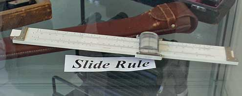 A slide rule similar to the one I used in high school and college