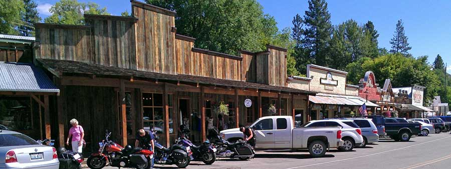 The old west town of Winthrop, Washington