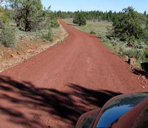 Red gravel roads all the way