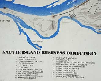 Sauvie Island Map