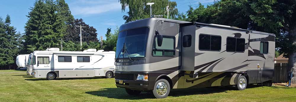 Elks RV park in Puyallup, Washington