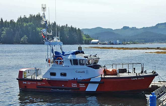 Two Canadian Coast Guard boats