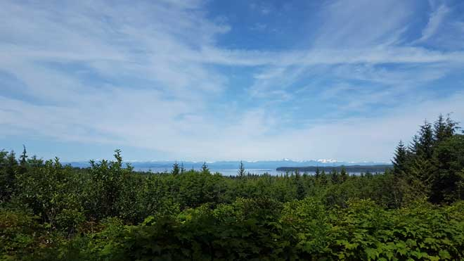 View toward Johnstone Strait, click to compare