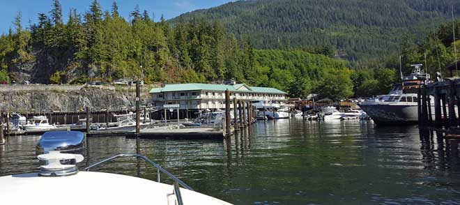 Coming in to Telegraph Cove