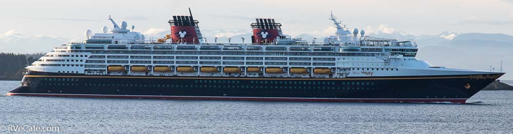 The Disney Wonder as it cruises by