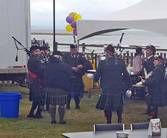 The bag pipe band