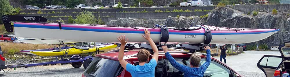 "A ""self loading"" kayak rack"