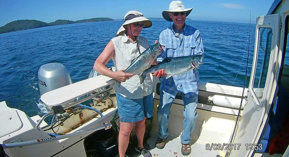 Gwen and Chuck with their catch