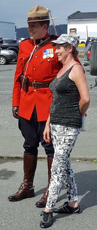 A real RCMP just like Sgt Preston of the Yukon