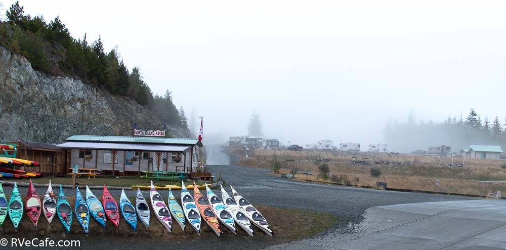 Fog over the RV Park