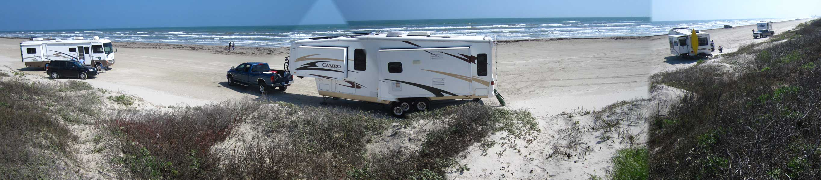 Camping On Port Aransas City Beach