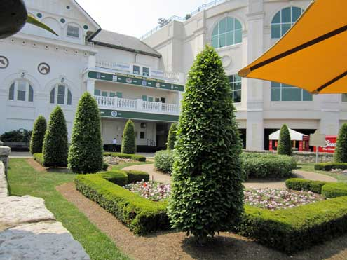 Just outside the Paddock area at Churchill Downs
