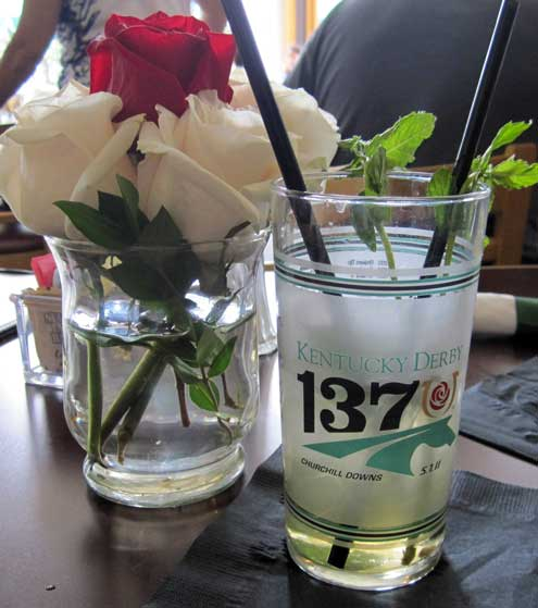 Our Mint Julip with commemorative glass