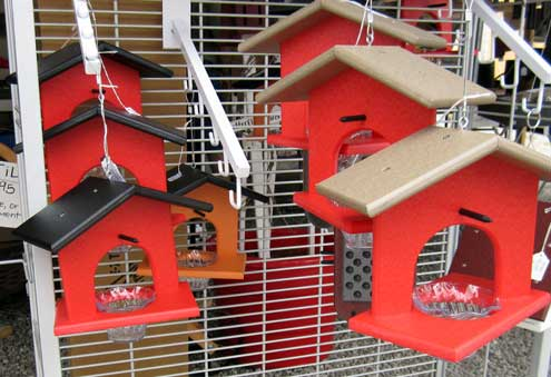 Birdfeeders made locally
