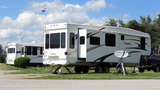 Camped at the Carriage factory RV park