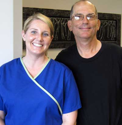 Dale and student Hygienist Cherish