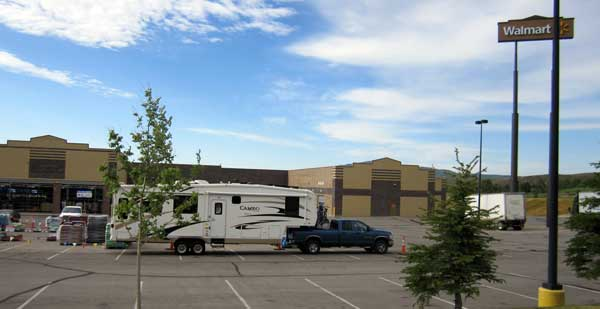 Our first Wal-Mart campout, Evanston, Wyoming