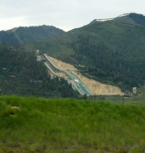 As close as we got to Park City, Utah as we drove by ... the Olympic ski jump
