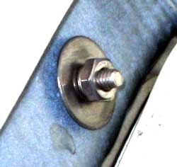 Sidewall bolt with flat washer and lock washer