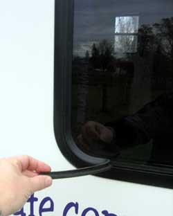 Rv Window Rubber Gasket Replacement http://www.rvecafe.com/win.html
